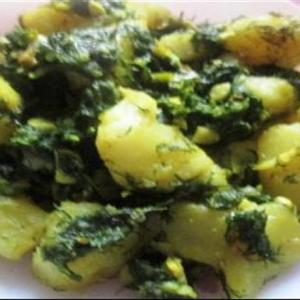 Dill Leaves With Potato : Healthy Food