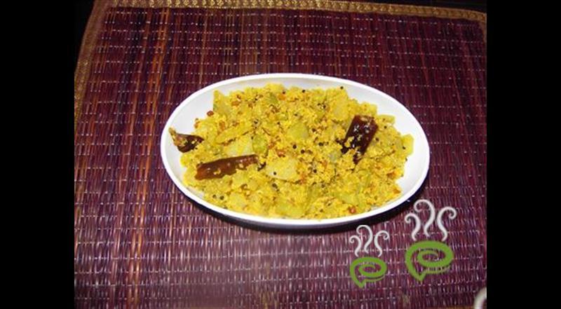 Kerala Kaplanga Green Peas Thoran | Papaya Green Peas Thoran