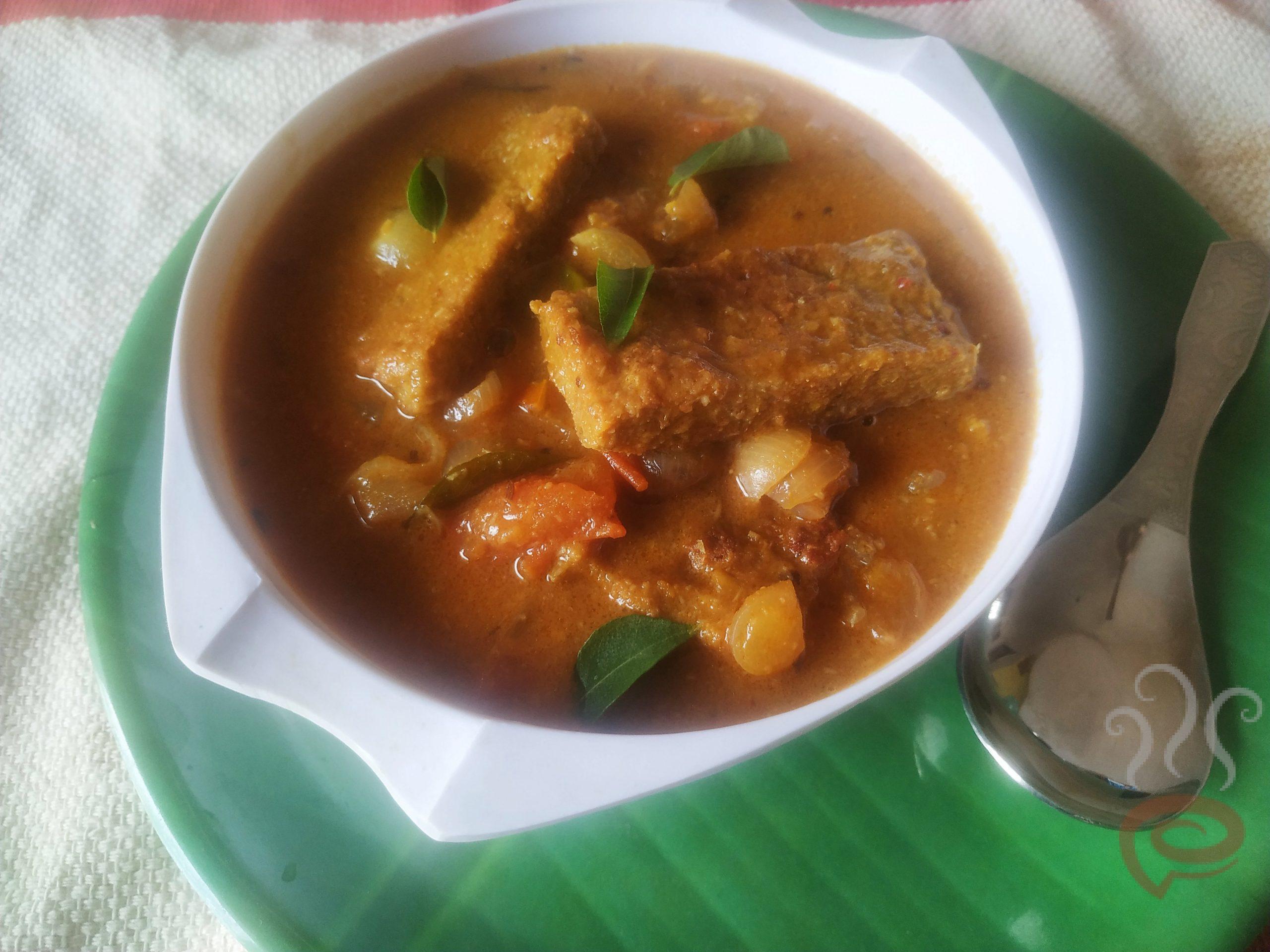 Saiva Meen Kuzhambu | Vegetarian Fish Curry