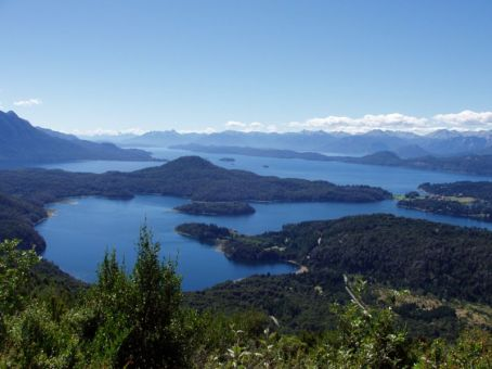 Vue du Lac Nahuel Huapi, Bariloche, Argentine