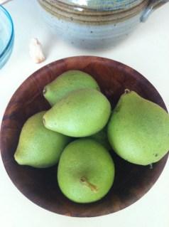 first of the season black walnuts