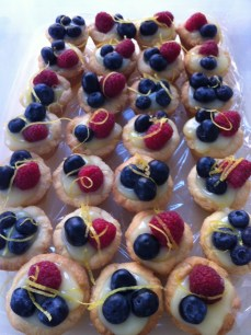 Lemon curd berry tarts...