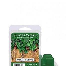 Country Candle Balsam & Cedar Wosk Zapachowy 64g