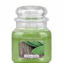 Country Candle Sage and Cedar Średni słoik 453g