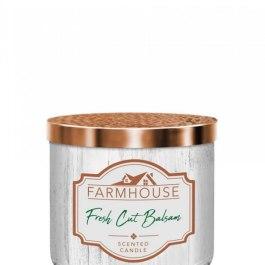 Kringle Candle Fresh Cut Balsam Farmhouse Tumbler 411g 3 knoty