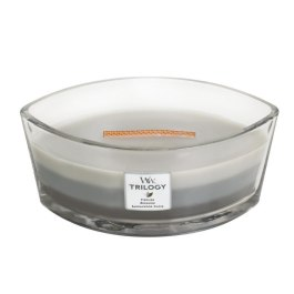 WoodWick WARM WOODS Świeca Elipsa Trilogy 453,6g