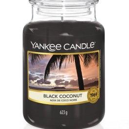 Yankee Candle BLACK COCONUT Duża Świeca Zapachowa 623g