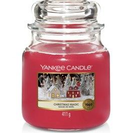 Yankee Candle CHRISTMAS MAGIC Średnia Świeca Zapachowa 411g