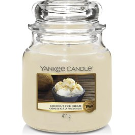 Yankee Candle COCONUT RICE CREAM Średnia Świeca Zapachowa 411g