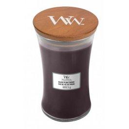 WoodWick BLACK PLUM COGNAC Duża Świeca Zapachowa 609,5 g