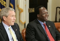 Simon Aban Deng and Bush