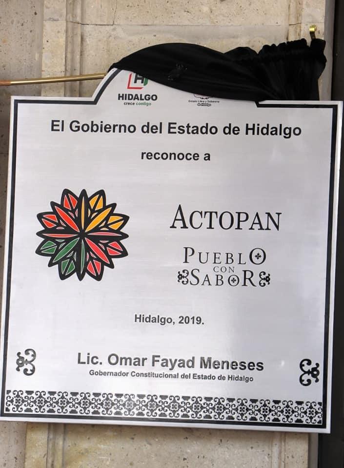 Actopan, pueblo con sabor de Hidalgo: colocan placa