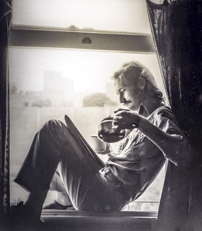 Figure in a window