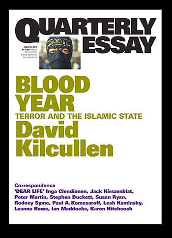 Blood Year is published by Quarterly Essay and can be purchased from bookstores or onlinw.