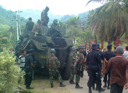 Indonesian forces