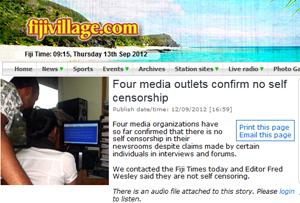 Fiji self-censorship