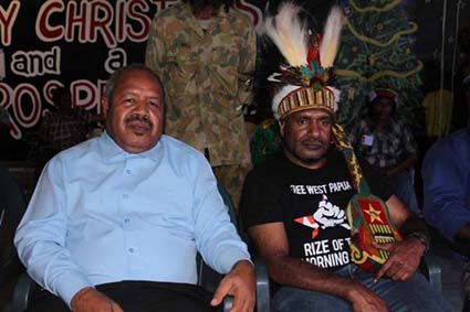 Powes Parkop and Benny Wenda