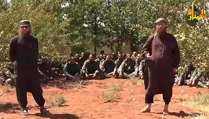 al Nusra militants video Fiji captives 110914 425wide