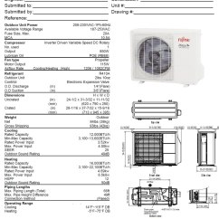 Fujitsu Ductless Split Wiring Diagram Kicker Cvr 10 2 Ohm 12rls2 Mini 25 Seer Include Hvac