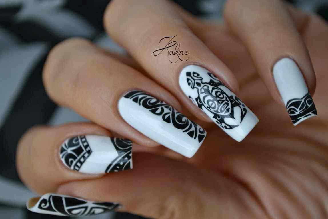 Maori Nail Art by Kakine