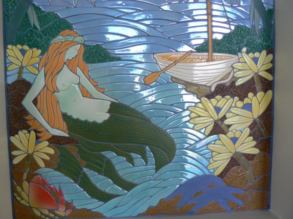 Ceramic Mermaid Tile Mosaic