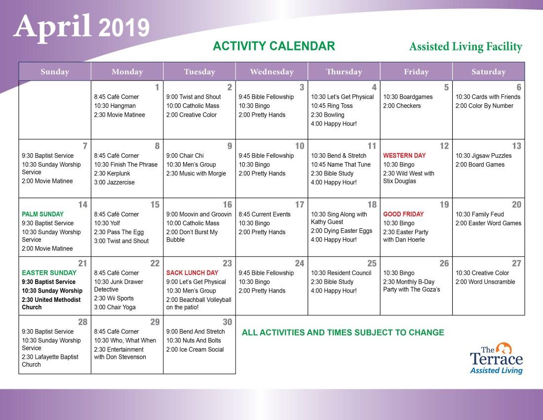 April 2019 Events