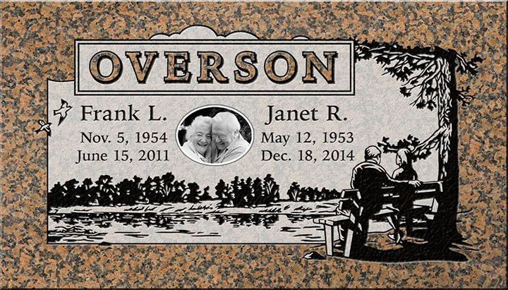 Companion Headstone Designs  Pacific Coast Memorials
