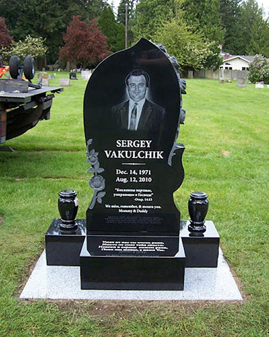 Russian upright grave markers  Pacific Coast Memorials