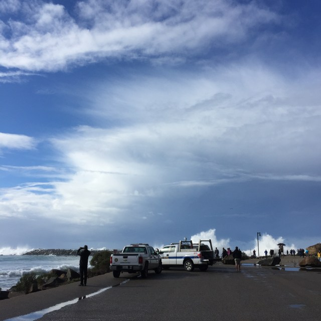 High swells of the first El Niño storm