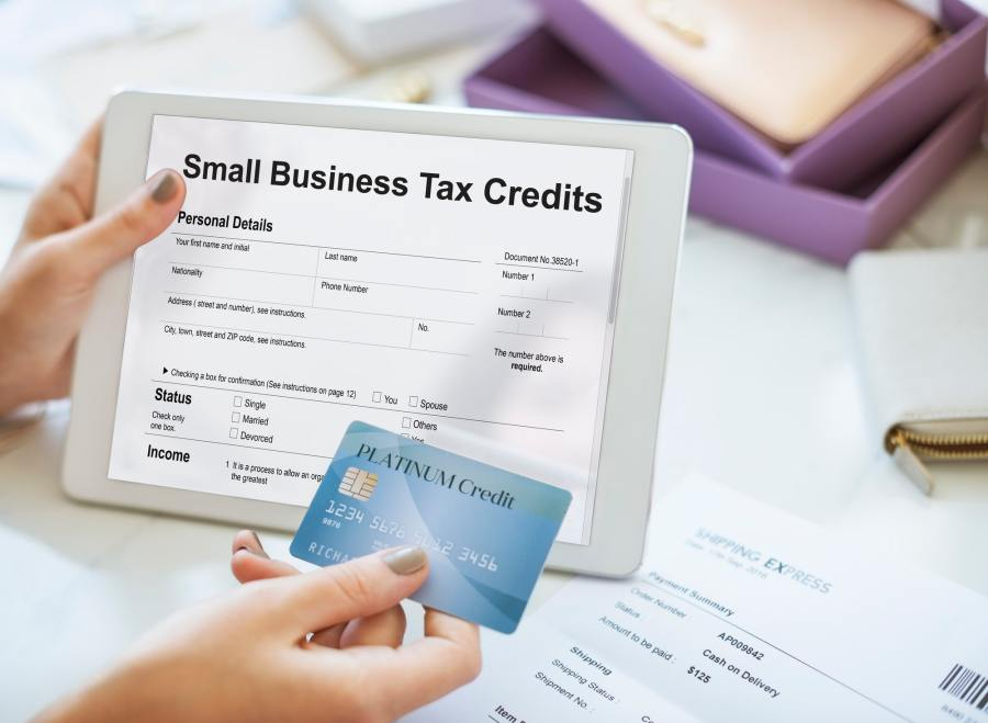 Home-Based Business Tax Credits Claim Return Deduction Refund Concept