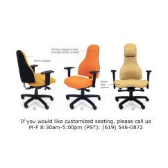 Posture Chair Demo Office Table Set Carmel Managers High Back Pacific Ergonomics