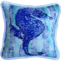 Blue Seahorse Pillow | PacificHomeFurniture.com