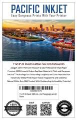 """Pacific Inkjet 11x14"""" Cotton Fine Art Matte Inkjet Paper"""