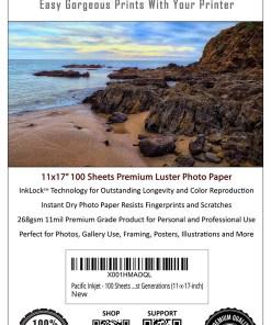 Pacific Inkjet 11x17 Premium Luster Inkjet Paper