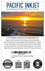 "Pacific Inkjet 5x7"" Cotton Fine Art Bright White Matte Inkjet Paper"