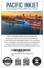 """Pacific Inkjet 8.5x11"""" Cotton Fine Art Matte Inkjet Paper"""