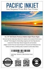 "Pacific Inkjet 8x10"" Premium Matte Inkjet Paper"