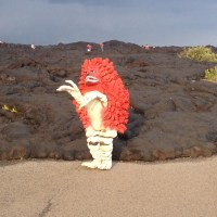 What in the WORLD? Ultraman on location at Hawai'i Volcanoes National Park