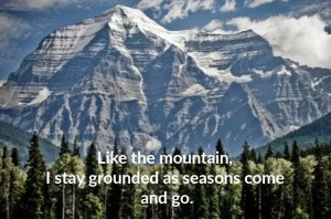 mountain with forest affirmation