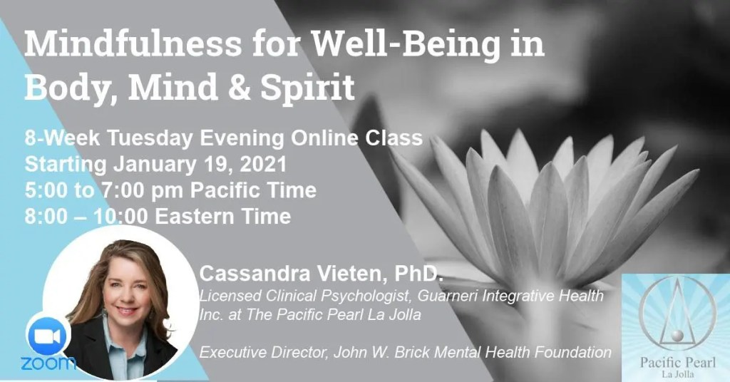 Mindfulness for Well Being with Dr. Vieten at Pacific Pearl La JOlla
