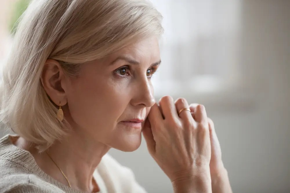 pensive woman thinking about integrated health services