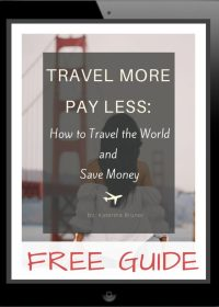 TRAVEL MORE PAY LESS FREE GUIDE COVER