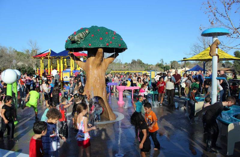 Splash pad equipment at Margarita Community Park