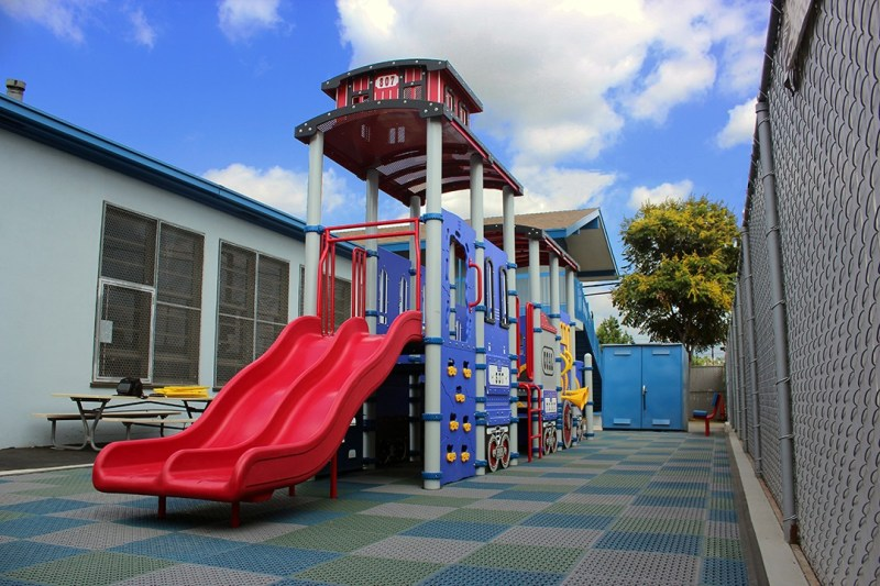 train themed playground equipment slide