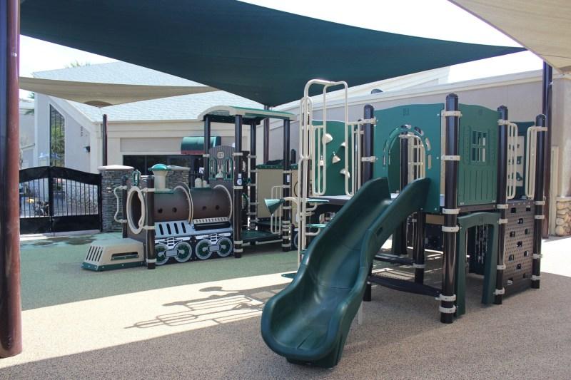 Choo Choo Train Themed Playground at Cornerstone Christian School