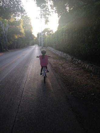 First bike ride on her new bike!
