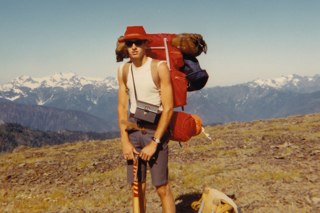 Wayne Hiking in 1970
