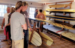 'SEAPEOPLE,' on display at the Bolinas Museum, features surfboards, silk-screens, historical photos and more.