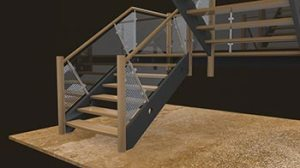 handrails used in custom staircase design