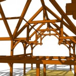 full timber framed house design by pacific timberworks